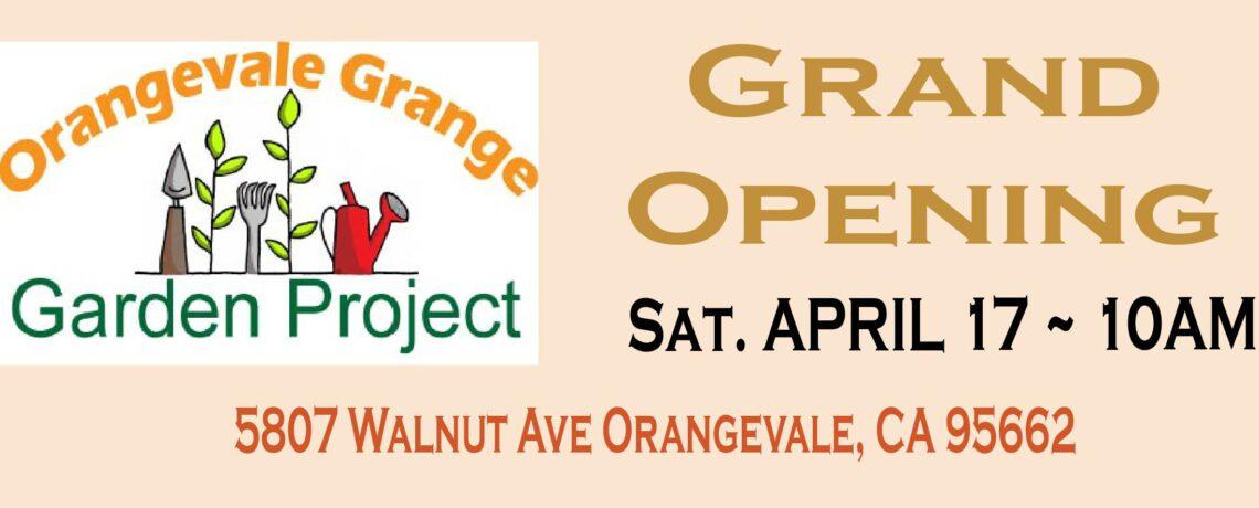 Grange CommUNITY Garden Grand Opening